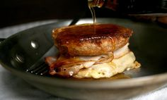 French Toast Breakfast Sandwich - essentially a Monte Cristo with french toast and syrup.