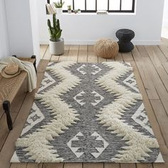 Kowalska Hand-crafted Berber-Style Rug LA REDOUTE INTERIEURS Add softness and warmth to any room with this hand-crafted wool and cotton mix Berber-style rugWith a North-African inspired pattern, this striking. Trendy Rug, Decor, Buying Carpet, Beautiful Rug, Rugs, Beautiful Carpet, Carpet Trends, Rug Styles, Contemporary Rug