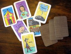Create some story cards to help your little ones with their storytelling skills!