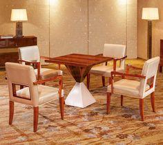 Senior Custom modern style elegant ash wood ISO9001 CE wooden tea dining table set