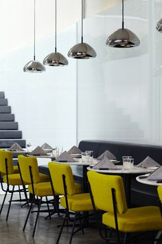 This yellow splash of colour adds zing to the room.   NEW YORK'S NEW HOTEL AMERICANO