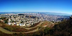 Some of the best views of San Francisco can be had from the top of Twin Peaks, but those sights could be harder for motorists (including tourist-laden buses) to take in the future. Dating In San Francisco, San Francisco Travel, Christmas In San Francisco, San Francisco Attractions, Hiking Tours, Hiking Trails, San Fransisco, Most Beautiful Cities, Twin Peaks