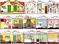 9 Best Images of Free Printable Paper Doll House - Printable Paper Doll House, Printable Paper Model Houses Victorian and Free Printable Paper Dollhouse Furniture Doll House Crafts, Paper Doll House, Mini Doll House, Doll Houses, Cardboard Paper, Paper Toys, Up Carl Y Ellie, Book Crafts, Paper Crafts