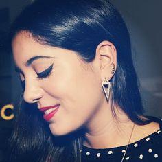 Wearing my #pendulum earrings  #noorfares #jewellery