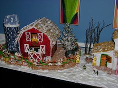 """He says this gingerbread barn would only be cool if it made the """"WAHHH"""" barn animal noise like the old toy. I laughed till I sounded like the barn myself ....."""
