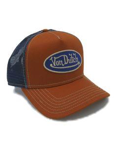 Von Dutch Kustom Made Originals Trucker Style.*Free Shipping* Black//Orange Cap