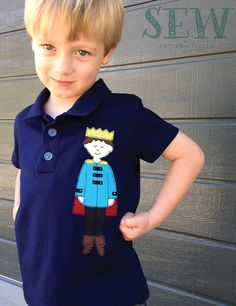 Prince Patrick free-motion appliqué pattern and FMA tutorial - add to t-shirts, bags, quilts and more to make a unique gift
