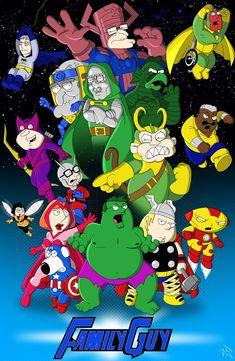 Family Guy Avengers by ~Superbdude1 on deviantART