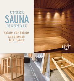 Finnische Sauna im Eigenbau - der Wandaufbau Diy Sauna, Private Sauna, Sauna Design, Steam Sauna, Mini Pool, Pool Construction, Garden Pool, Diy Garden, Steel Wall