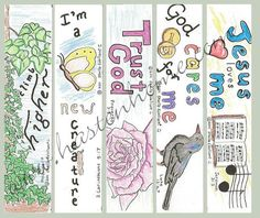Printable Bible Bookmarks Color