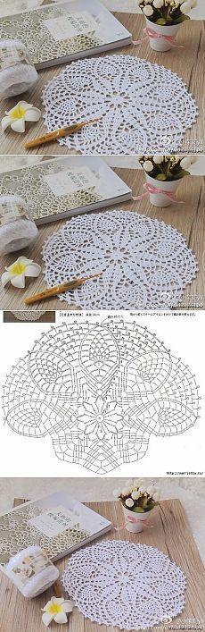 Centrinho de mesa delicado em crochê_com gráfico