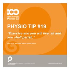 Exercise and you shall live #physiotips #100years