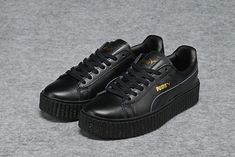 28b026a95c Achat Puma by Rihanna Cuir Creepers Homme Femme Chaussures All Noir France  Soldes