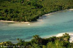 View of Long Beach from Hilltop - Long Beach Resort, Yasawa Islands, Fiji via BeautifulPacific.com
