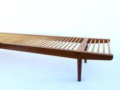 Milo Baughman for Glenn of California dowel bench by FandFVintage Milo Baughman, Outdoor Furniture, Outdoor Decor, 1950s, Bench, Decor Ideas, California, Living Room, Chair