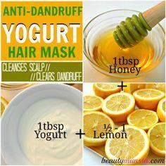 Home Dandruff Remedies ~ yogurt hair mask anti-dandruff