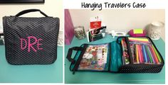 For transporting your Planner and Supplies, the Thirty One Hanging Travelers Case is a great option!  Several patterns and can be personalized.  www.mythirtyone.com/kia