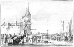 File:Simon de Vlieger - The Northwest Side of the Rotterdam Gate at Delft in Winter - WGA25262.jpg
