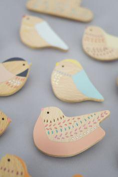 Anna Wiscombe — Bird brooches