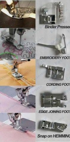 New Domestic Sewing Machine Feet Foot Presser For Brother NewHome Toyota Janome Photobucket Sewing Basics, Sewing For Beginners, Sewing Hacks, Sewing Tutorials, Sewing Tips, Sewing Art, Sewing Rooms, Sewing Crafts, Sewing Patterns
