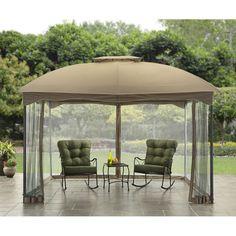 Outdoor Gazebo Canopy 10X12 Patio Tent Garden Decor Cover Shade Shelter  Curtain