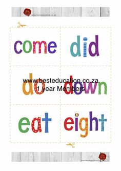Sight Words, Grade 1, Worksheets, Map, Kids, Young Children, Boys, Location Map, Children