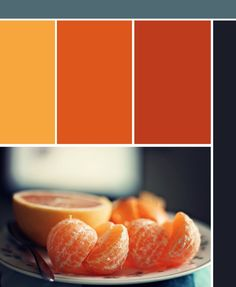 Love these rich orange and blues