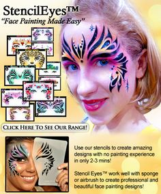 Free Face Painting Stencils | NEW Stencil Eyes For Face Painting—Face Painting Tips Shop