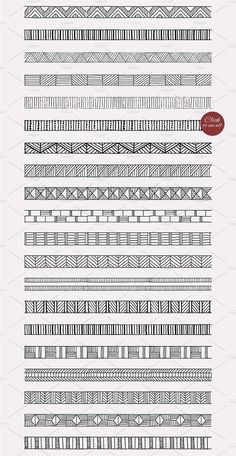 20 geometric pattern brushes from Solana on Creative Market # designinteriores . - 20 geometric pattern brushes from Solana on Creative Market # designinteriores - Doodle Art Drawing, Zentangle Drawings, Mandala Drawing, Zentangle Patterns, Art Drawings Sketches, Zentangles, Mandala Doodle, Pattern Design Drawing, Pattern Art