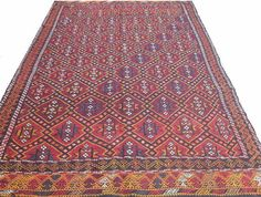 Vintage Turkish Kilim Rug Carpet Handwoven Kilim Rug by chicethnic, $485.00