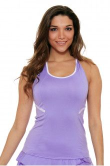 Lucky In Love Snake Charmer Braided Racerback Lilac Tennis Tank