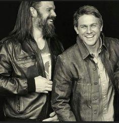 I LOVE SOA. Ryan Hurst and Charlie Hunnam as Opie Winston and Jax Teller