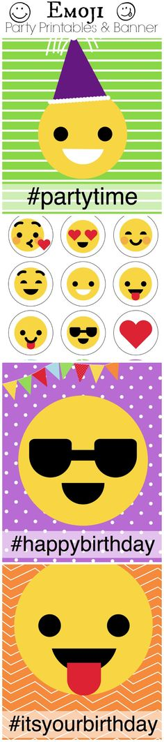 Fun idea for an friday afterschool it's the weekend party! Emjoi Party Printables and ideas.