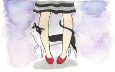 Um post sobre gatos, cachorros ou qualquer animal que se vai cedo demais.   #ilustração #gatos #aquarela
