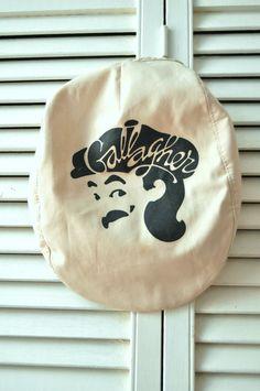 Vintage 80s Mens Womens Newsboy Cap/Gallagher by HotRodGirlVintage
