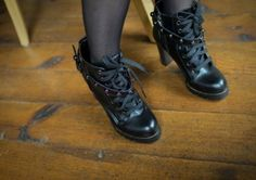New Women's Leather Lace-up Rivet Strap Ankle Martin Boots on BuyTrends.com, only price $28.34