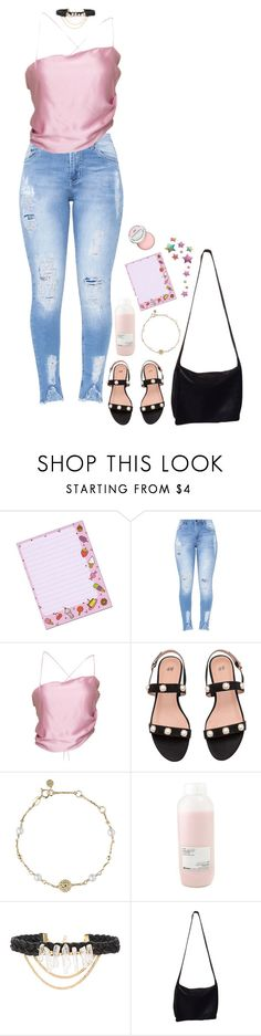 """would you call me if I gave you my number?"" by vampirliebling ❤ liked on Polyvore featuring H&M, Links of London, Davines, Ettika, Donna Karan and Sephora Collection"