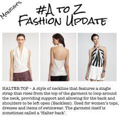 A-Z Fashion Update - Halter Top