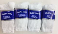 12 Pairs of Mens White Diabetic Crew Socks 13-15 Size >>> Click image to review more details.