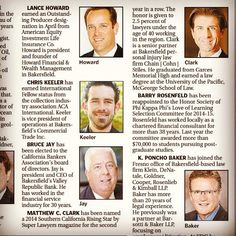 "CCS senior partner and ""Rising Star"" Matt Clark is featured in ""People in Business today in @Bakersfield.com Network. #Bakersfield #KernCounty #superlawyers"