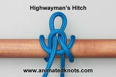 Tutorial on Highwayman's Hitch Tying Paracord Knots, Rope Knots, Tie The Knots, Survival Knots, Survival Prepping, Survival Shelter, Scout Knots, Knots Guide, Rope Tying