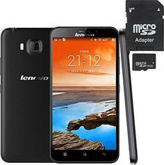 Lenovo A916 4G Unlocked Smartphone (gift-16GB TF Card) 5.5 inch Android 4.4 MT6592M+6290 Octa 8 Core 1.4GHz 1GB 8GB 13MP Dual SIM FDD-LTE & WCDMA & GSM (Black+ 16GB TF Card) - For Sale