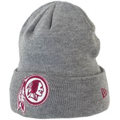 New Era Wide Grey Beanie Washington Redskins ★★★★★