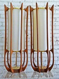 Cylinder shade table lamps, by Vladimir Kagan & Arne Jacobsen