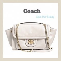 """Coach Ranger Flap Crossbody⬇️ This is brand new with tags and still in original packaging. It is a sold out model in black and white. This purse is white ( chalk) and the Coach brand horse and carriage are embossed on the front although it's not easy to see in the photos. There purse is fine leather with inside zip, cell phone and multi function pockets. Zip closure with fabric lining. Handle with 9.5"""" drop and double strap with 18"""" drop for crossbody wear. Measurements: 11.5"""" x6.75""""x 5""""…"""