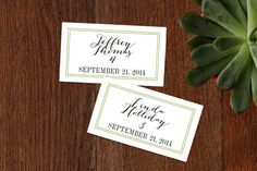 Wed in Type Wedding Place Cards by Ariel Rutland at minted.com