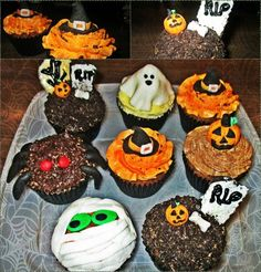 Spooky Halloween Cupcake Ideas! Come check them out! http://teacakecafe.net/halloween-cupcake-ideas/