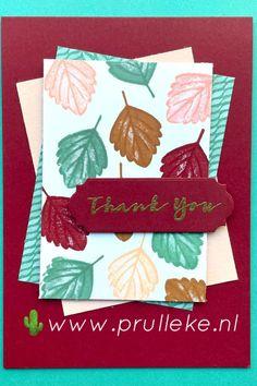 Dit is de inspiratiekaart voor week 40 gemaakt met de kleurencombinatie van oktober. Deze is gemaakt met de Sweet Strawberry stempelset. Hoewel je meteen aan de zomer denkt met de aardbeien, kun je de set ook goed gebruiken om een herfstige kaart te maken. #prulleke #prullekekleurencombinatie #sweetstrawberrystampset #sweetsymmetrydsp #ornateframesdies #stampinupnederland #stampinupdemonstratrice Stampin Up, Napkins, Strawberry, Tableware, Sweet, October, Candy, Dinnerware, Towels