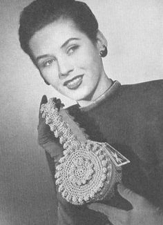 Vintage 1940s Crochet Band Box Small Handbag Pattern