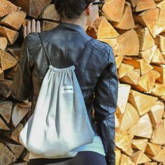 Gray TwelveBag Drawstring Backpack, Universe, Backpacks, Gray, Bags, Collection, Fashion, Handbags, Moda
